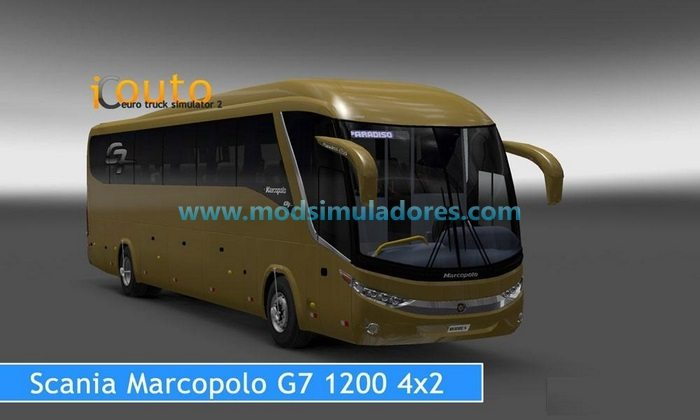 Ônibus Marcopolo G7 1200 4x2 Para V.1.24.X - ETS2