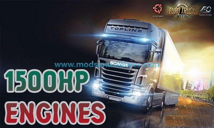 Mod 1500HP Todos os Caminhões Para V.1.24.X - ETS2