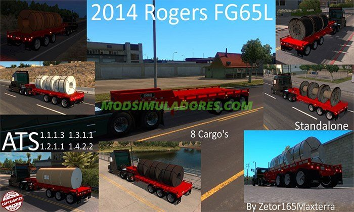 Reboques Rogers FG65L Para V.1.4.2.2 - ATS