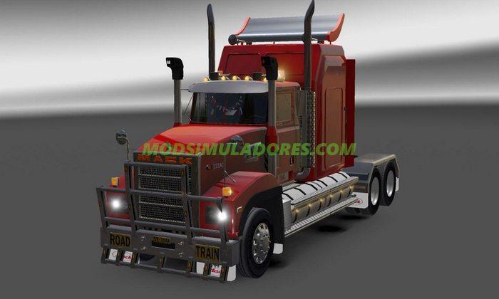 Caminhão Mack Titan V8 V.1.1 Para v.1.4.1 - ATS