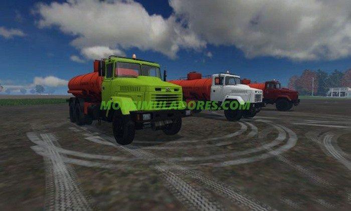 Caminhão Kraz 65053 v 1.0 Multicolor - FS15