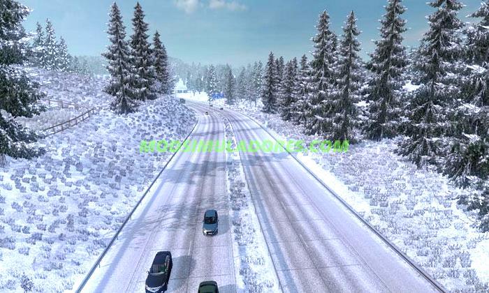 Mod Inverno Gelado (Neve) V.6.0 Para V.1.25.X - ETS2