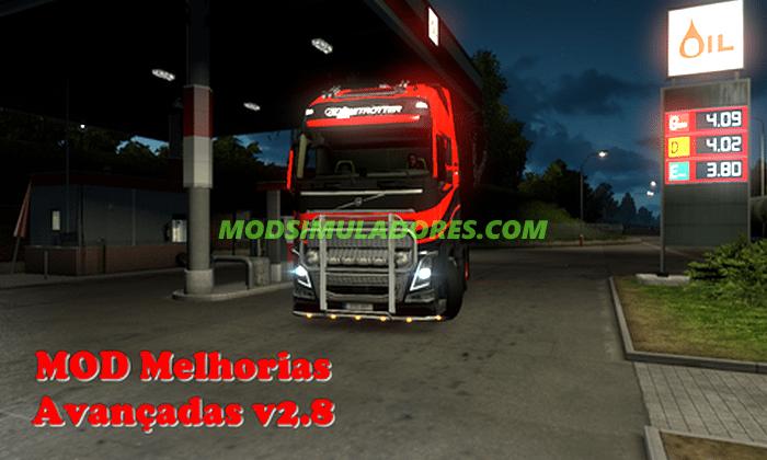 Mod Melhorias Avançadas V.2.8 Para V.1.25.X - ETS2