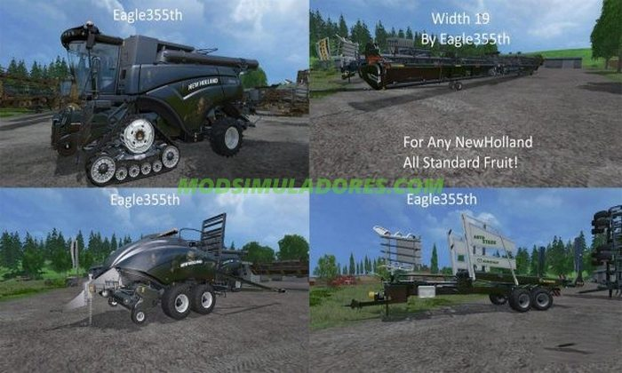 Pack New Holland + Krone Autostack v 1.1 - FS15