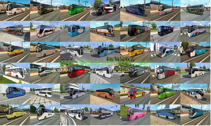 Pack de Ônibus para o Trafego Para v.1.25.X - ETS2