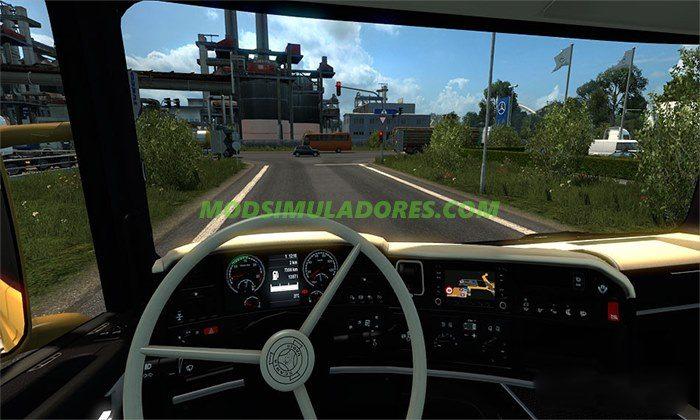 Interior de Scania Preto/Bege Para V.1.25.X - ETS2