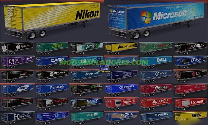 Pack de Reboques Eletrônicos Para V.1.4.X - ATS