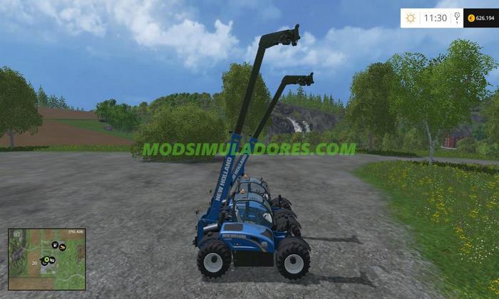 Trator New Holland Teleloader LM - FS15