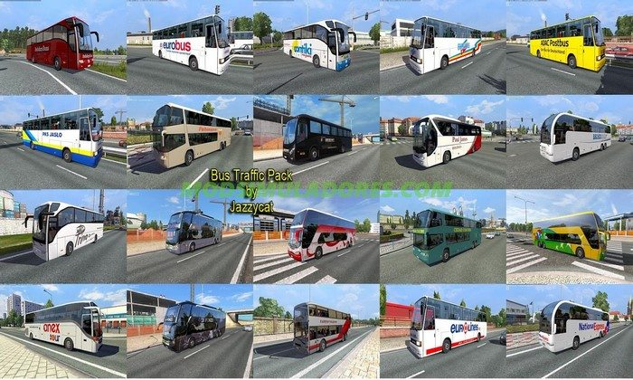 Pack de Ônibus Para o Tráfego V.1.4 Para V.1.25.X - ETS2