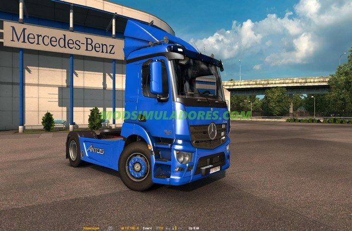Caminhão Mercedes Antos 1840 + Interior Para V.1.25.X - ETS2