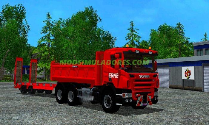 Caminhao Scania P420 Benne Edition + Reboque v1.0 - FS15