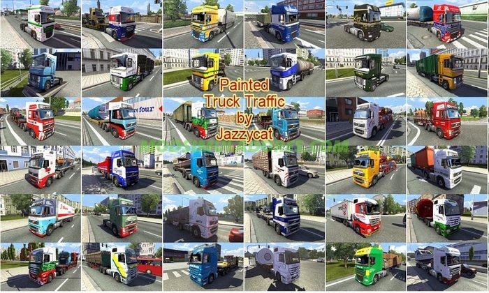 Pack de Caminhões do Tráfego Pintados Para V.2.4 Para V.1.25.X - ETS2