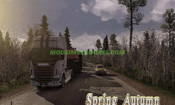 Mod Primavera e Outono Para V.1.25.X - ETS2