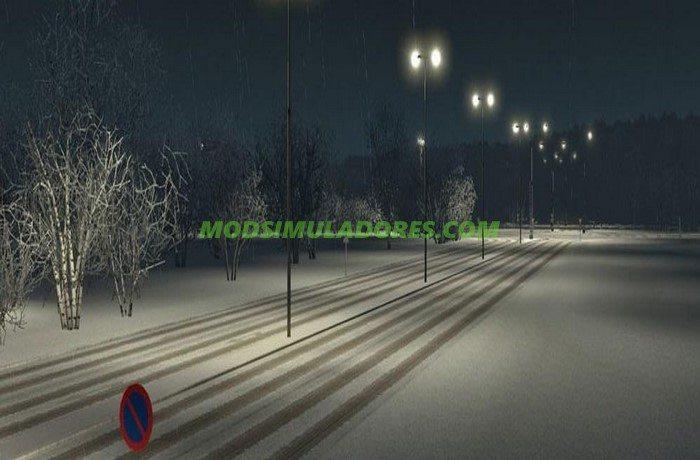 Mod Inverno e Neve Para V.1.25.X - ETS2