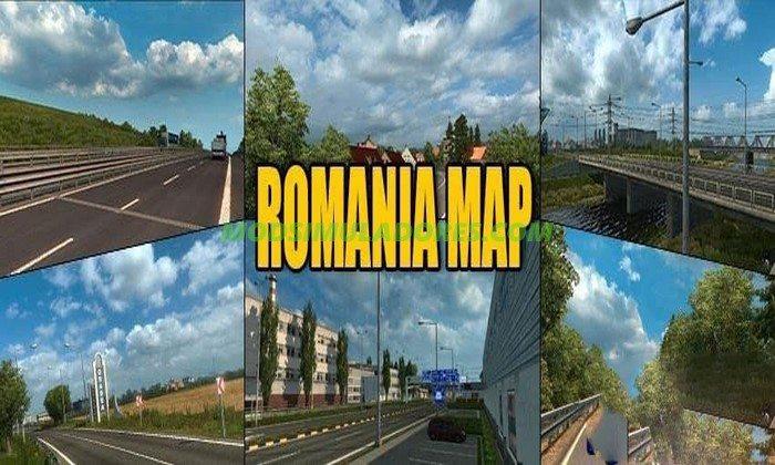 Mapa Romania V1.3 Para V.1.26.X - ETS2