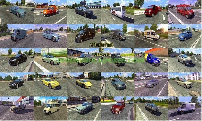 Pack de Carros Para o Tráfego V.4.1 Para V.1.26.X - ETS2