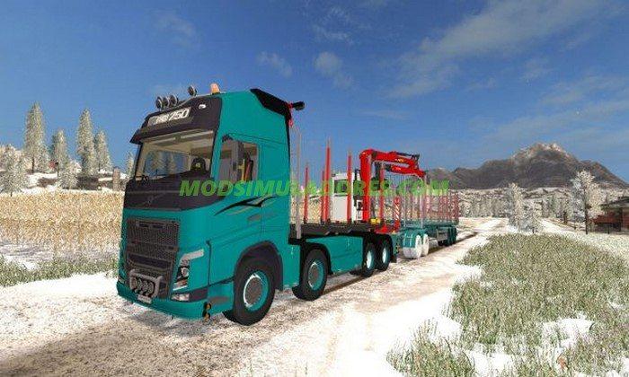 Caminhão Volvo FH750 Forest Pack - FS17