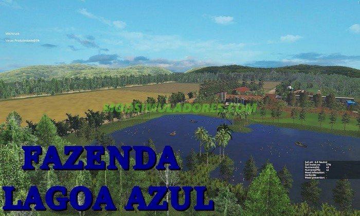 Mapa Fazenda Lagoa Azul - FS15