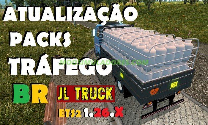 Pack Tráfego BR JL Truck Para V.1.26.X - ETS2