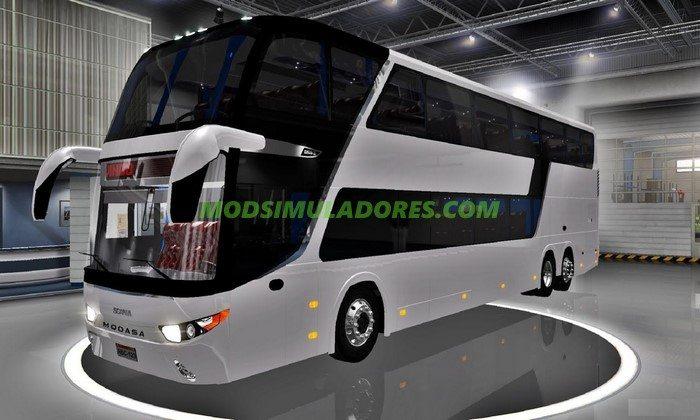 Ônibus Scania 6x2 V.1.0 Para V.1.26.X - ETS2
