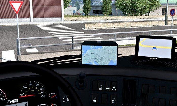 Mod Garmin 50LMT Navigador V.1.2 Para V.1.27.X - ETS2