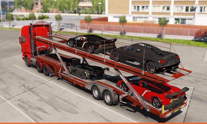 Reboque Super Carros Para V.1.27.X - ETS2