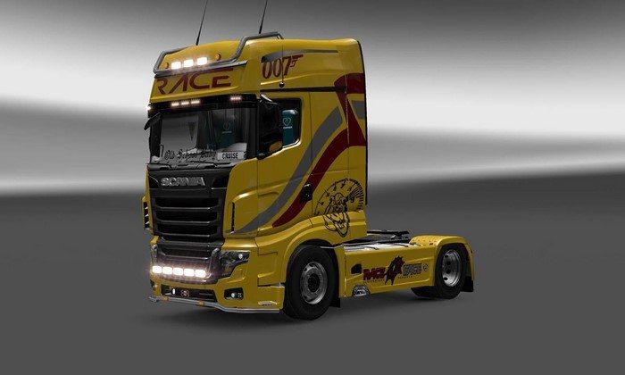 Skin Race Scania R700 Para V.1.27.X - ETS2