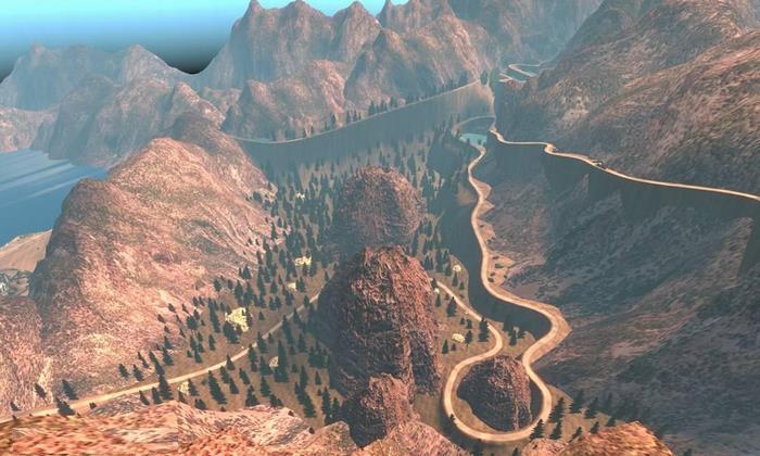 Mapa Estradas Com Montanhas V.2.0 - ATS