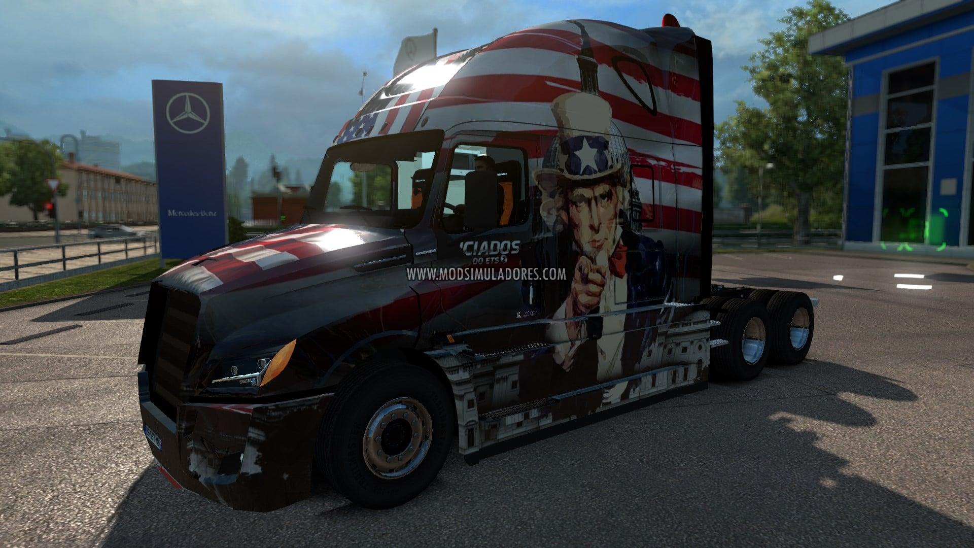 Caminhão Freightliner Cascadia V.4.1 Para V.1.27.X - ETS2