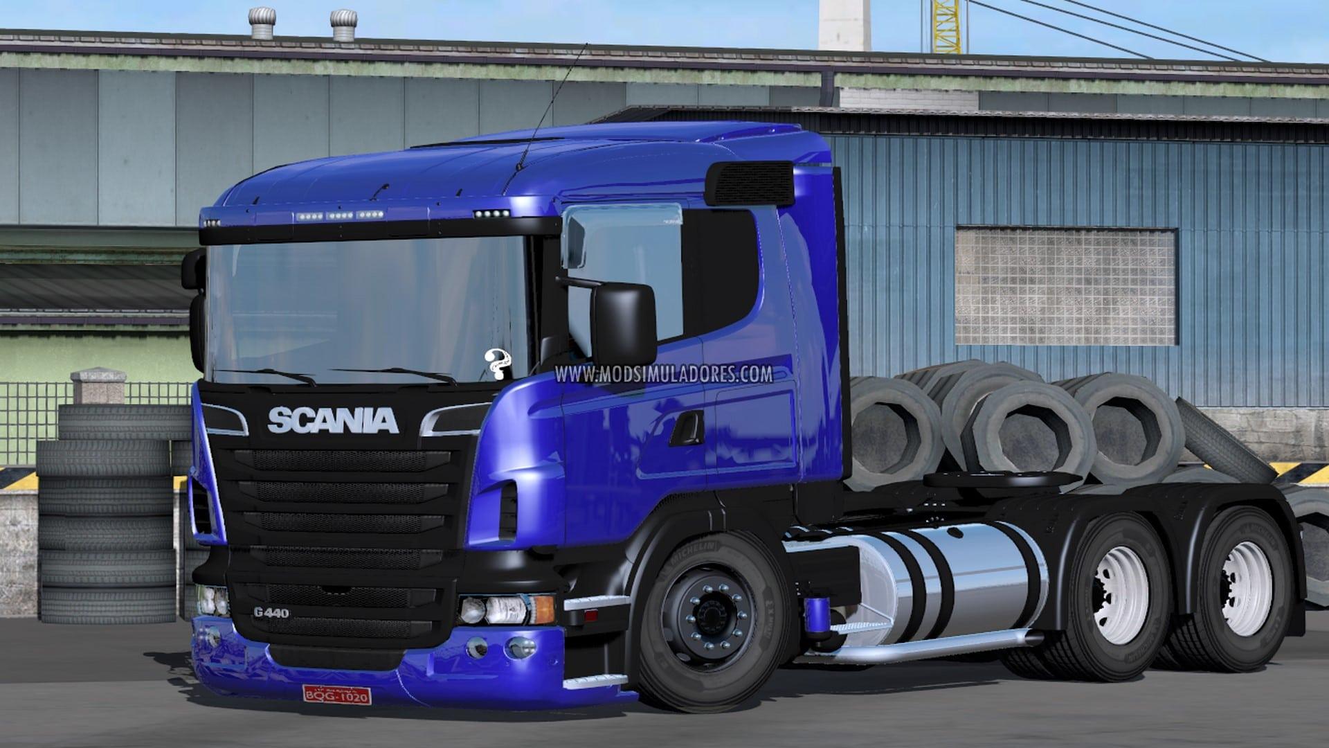 Caminhão Scania G440 6x4/4x2 Para V.1.27.X - ETS2