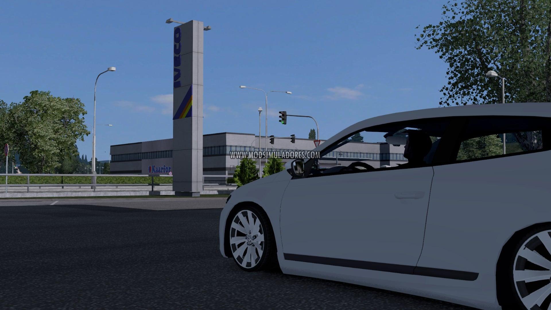 Carro Volkswagen Scirocco 2010 2.0 TSI Para V.1.27.X - ETS2