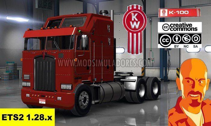 Caminhão Kenworth K100 Para V.1.28.X - ETS2