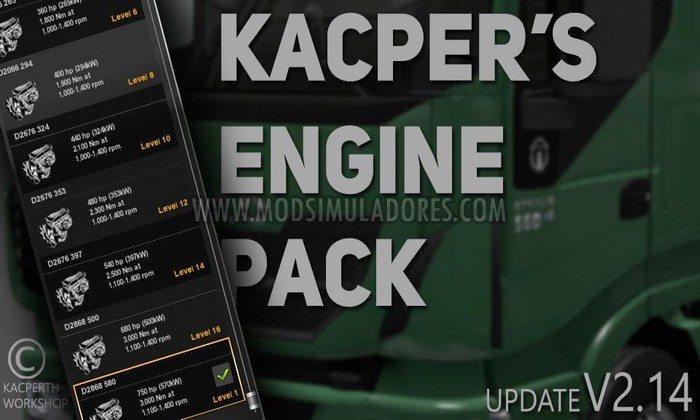 Mod Pack de Motores V.2.14 Para V.1.28.X - ETS2