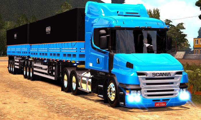 Caminhão Scania 124G + Bitrem 9 Eixos Para V.1.28.X - ETS2
