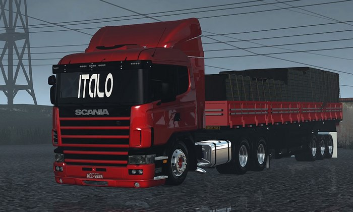 Caminhão Scania 124G + Granel Para V.1.28.X - ETS2