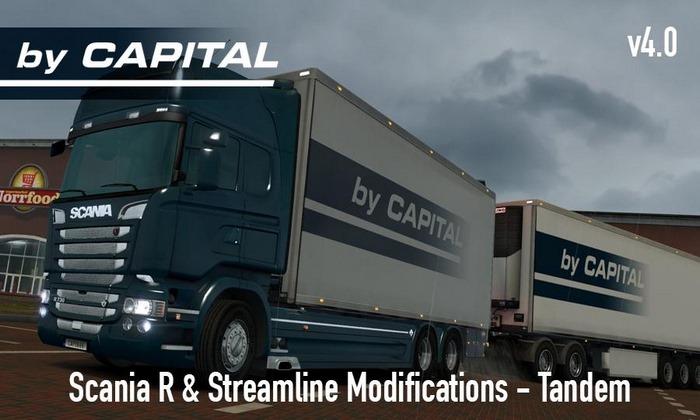 Caminhão Scania R e Streamline Tandem V.5.0 Para V.1.28.X - ETS2