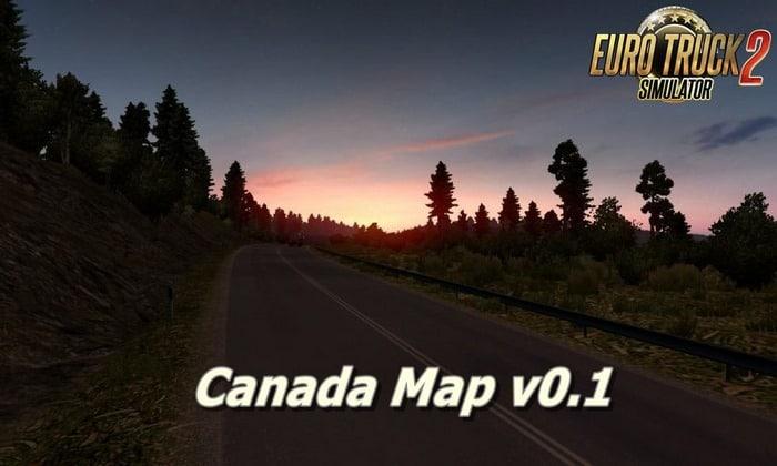 Mapa Canadá V.0.1 Para V.1.28.X - ETS2