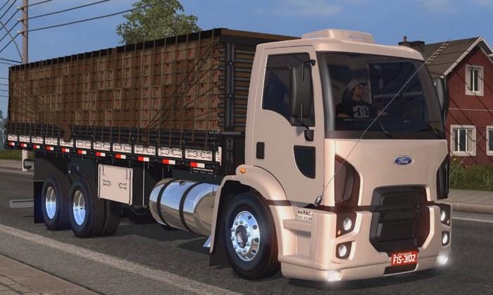 Caminhão Ford Cargo 2429 + Carroceria Para V.1.30.X - ETS2