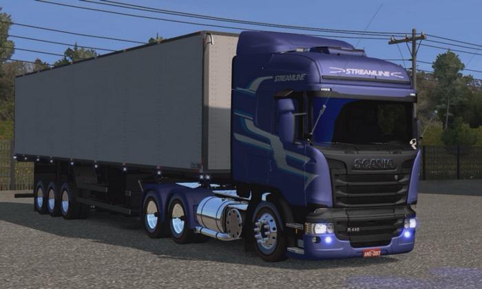 Caminhão Scania R440 Streamline + Báu Para V.1.30.X - ETS2