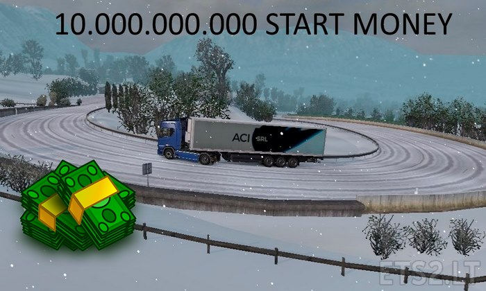 Mod de Dinheiro $10.000.000.000 Para V.1.30.X - ETS2