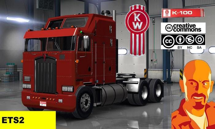 Caminhão Kenworth K100 Para V.1.30.X - ETS2