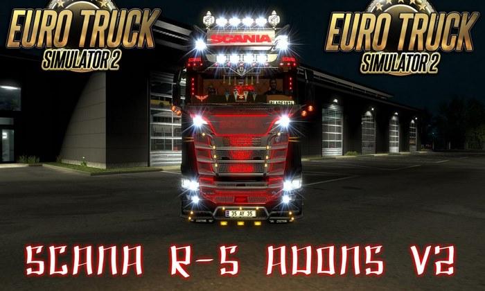 Caminhão Scania R-S + Acessórios V.2.0 Para V.1.30.X - ETS2