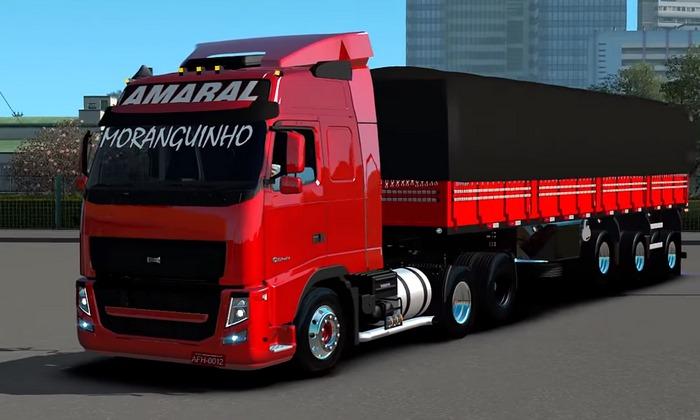 Caminhão Volvo FH + Granel Lonada Para V.1.30.X - ETS2