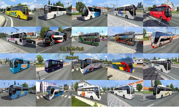 Mod Pack de Ônibus Para o Tráfego V.3.5 Para V.1.30.X - ETS2