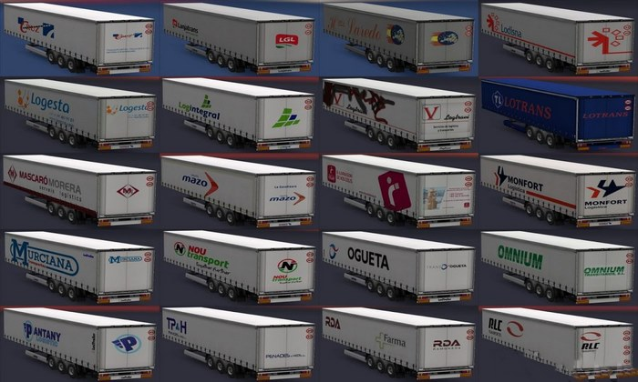 Pack de Reboques de Empresas Reais Para V.1.30.X - ETS2