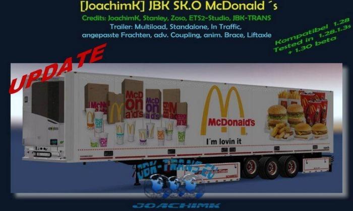 Reboque JBK-SK.O McDonalds V.3.0 Para V.1.30.X - ETS2