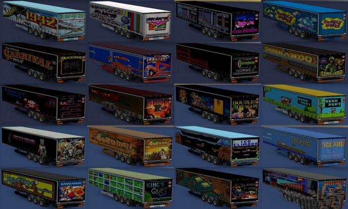 Pack de Cargas de Vídeo Games Antigos Para V.1.30.X - ETS2