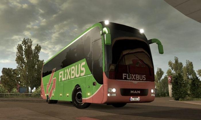 Skin FlixBus Para Man Lions Coach V.1.0 Para V.1.30.X - ETS2