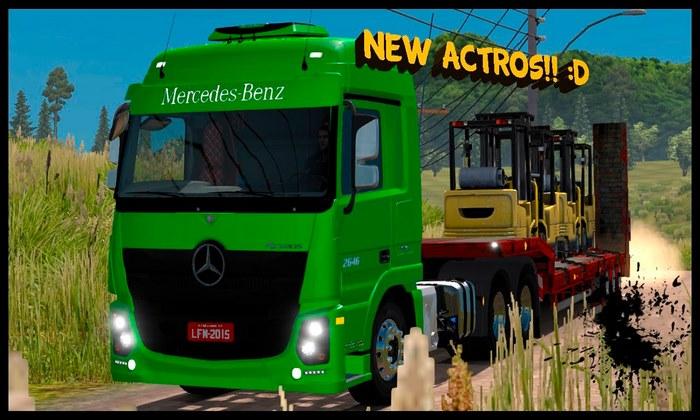 Caminhão Mercedes Benz Actros 2651 Para V.1.30.X - ETS2