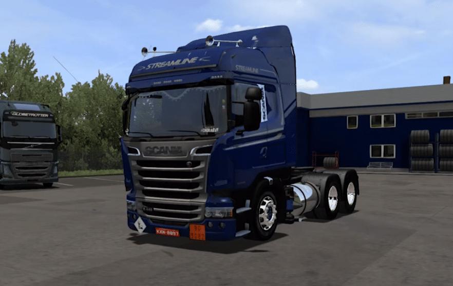 Caminhão Scania Pura Folha + Reboque Baú Para V.1.30.X - ETS2